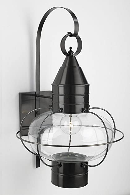 Norwell lighting 1509 bl cl classic onion one light outdoor large norwell lighting 1509 bl cl classic onion one light outdoor large wall mount aloadofball Choice Image