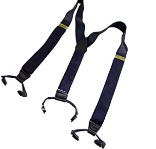 product image for Holdup Brand XL Satin Finished Steel Blue Corporate Series Double-ups style suspenders with patented black No-slip clips