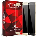 NETBOON® Original Samsung A9 Pro Tempered Glass Screen Protector Glass Guard Full Edge to Edge Cover for Samsung Galaxy A9 Pro - Gold