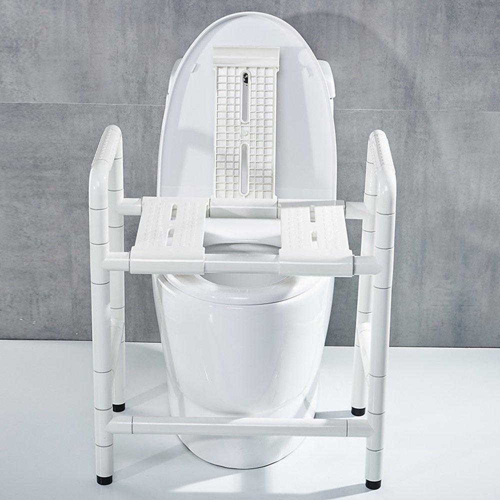 ZZHF fushou 手すりステンレス鋼ナイロントイレ手すりデュアルユーストイレ椅子アームレスト不可能な高齢者トイレスツールバスチェア (色 : White2#) B07F377L7V White2# White2#