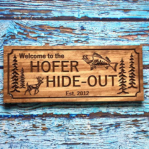 Personalized Cabin Sign Custom Wood Rustic Family Established Name Plaque