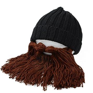 Winter Warm Männer Frauen Kinder gestrickt Bart Schnurrbart Hat ...