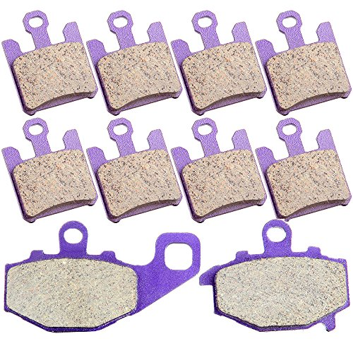 SCITOO Kevlar Carbon Fiber Brake Pads Fit for Kawasaki Ninja ZX10R ZX1000C 2004 2005 ZX1000D 2005 Front and Rear FA369/4 FA192 ()