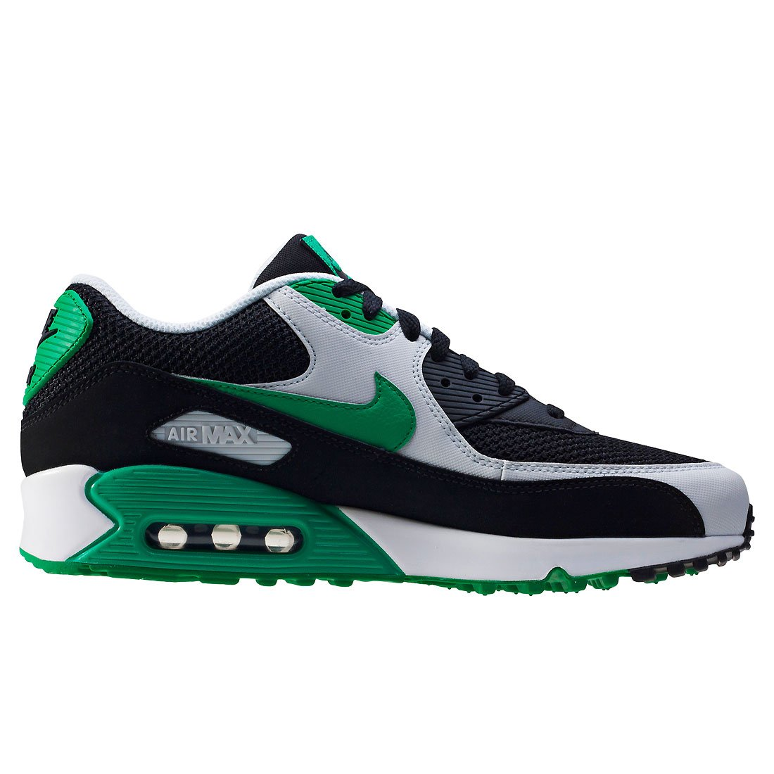 new concept 64cc4 3702c Nike AIR MAX 90 ESSENTIAL 537384 067 Black Green Trainers  Amazon.co.uk   Shoes   Bags