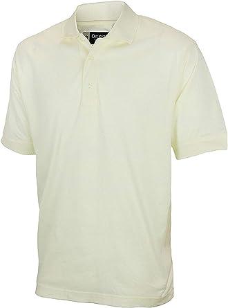 Reebok para Hombre propietarios Collection Polo Camisa, Color Crema