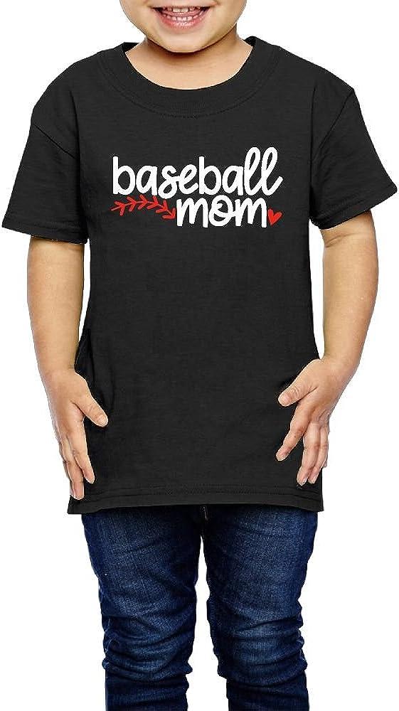 2-6 Years Old Kcloer24 Baseball Mom Boys Girls Organic T-Shirt Summer Clothes
