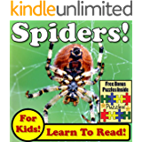 "Children's Book: ""Spiders! Learn About Spiders While Learning To Read - Spider Photos And Facts Make It Easy!"" (Over 45+ Photos of Spiders)"