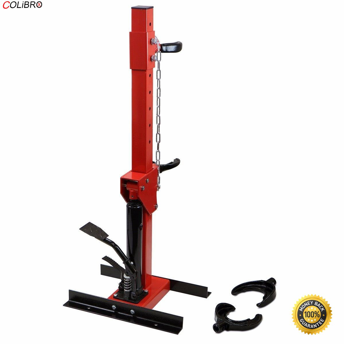 COLIBROX--HEAVY DUTY 5500 LBS Auto Strut Coil Spring Compressor Air Hydraulic Cars Truck. Premium Quality, Solid Steel Construction. Perfect for Commercial Use, Garages, Shops etc.