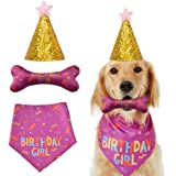 SYOOY Dog Birthday Bandana Dog Happy Birthday Party Supplies Pet Birthday Toy Gift Triangle Scarf with Cute Bone for Small Me