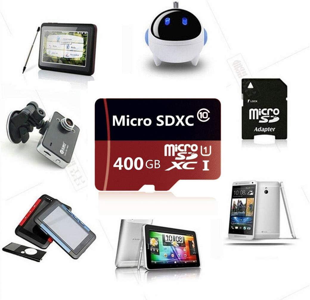 Genericce 128 GB, 256 GB, 400 GB, 512 GB Tarjeta micro SD de alta velocidad con adaptador 400GB