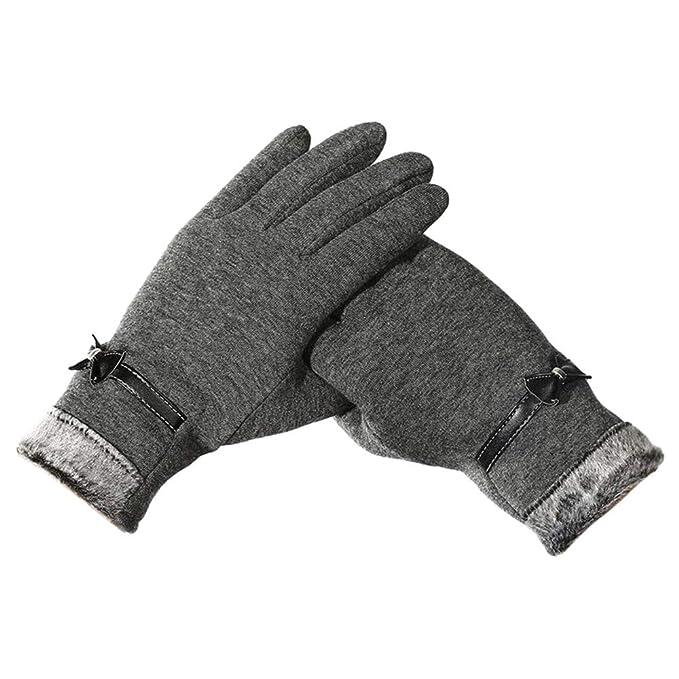 254b9b7baf7d09 OSYARD Damen Handschuhe Fäustlinge Kreative Touchscreen Winterhandschuhe  Strickhandschuhe Wollhandschuhe, Frauen Pulswärmer Casual Winter Outdoor  Sports