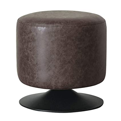 Fantastic Amazon Com Round Faux Leather Puff Ottomans Pouf Footstools Bralicious Painted Fabric Chair Ideas Braliciousco