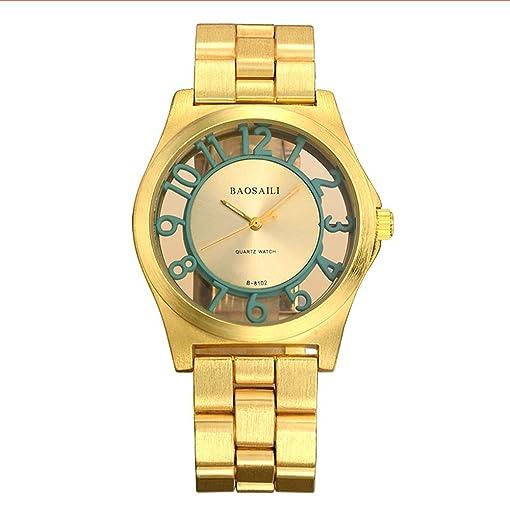 BSL849 BAOSAILI Women Quartz Analog Watches Gold Stainless Steel Wristwatch Hollow Lady Gift relojes