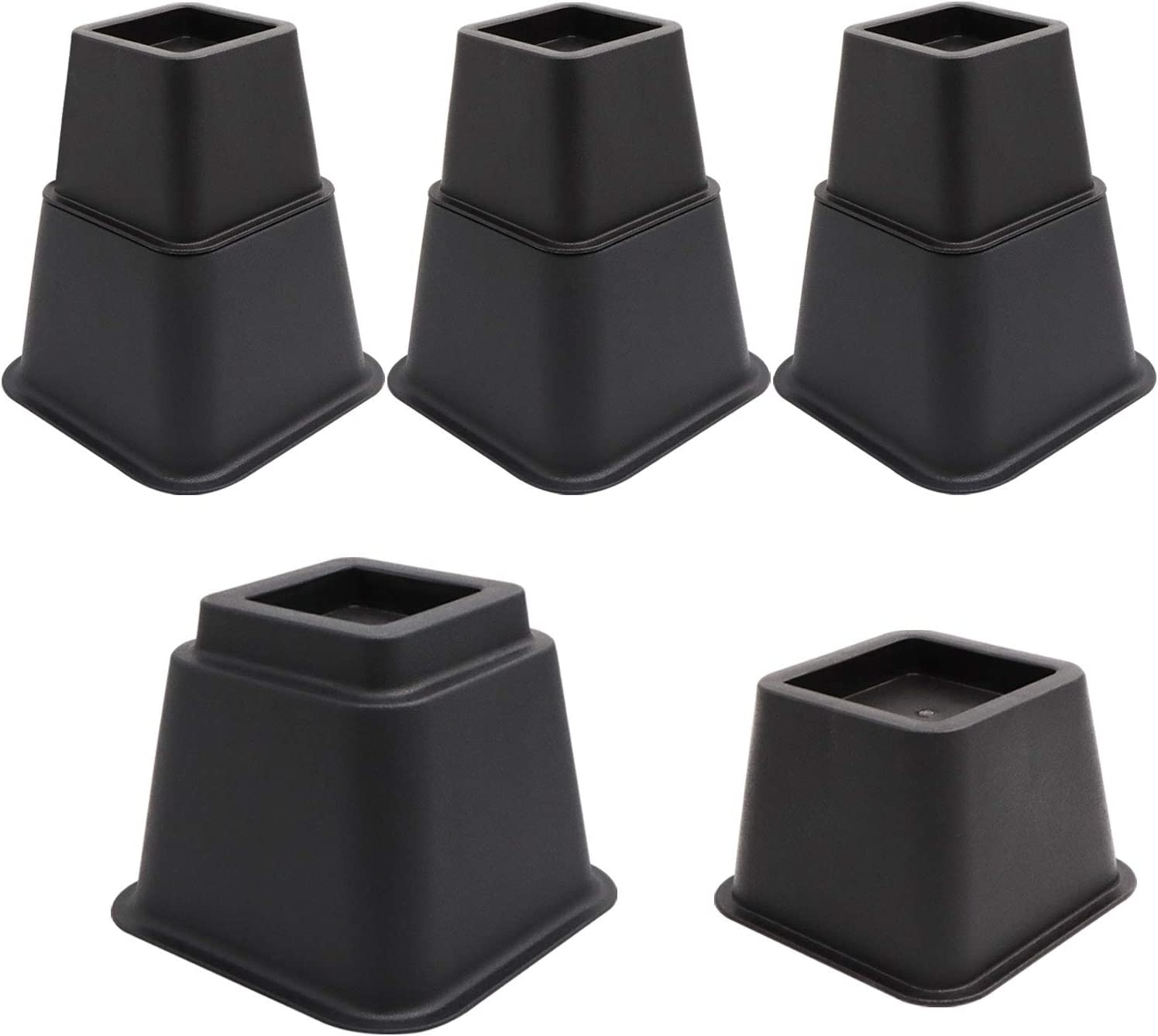 TUOKEOGO Bed Risers, Desk Risers Adjustable, Stackable Furniture Risers 3, 5, 8Inch Heavy Duty