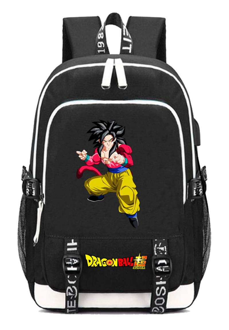 Dragon Ball  13 Cosstars Dragon Ball Anime Rucksack Schoolbag Laptop Backpack with USB Charging Port and Headphone Jack  9
