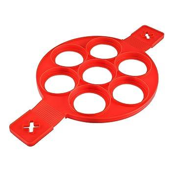 ClookYeed Umwelt Ungiftig Home Kitchen Zubeh/ör Nicht-Stick Silikon Backen Kuchen Ei Ring Pancake Kochen Form Form