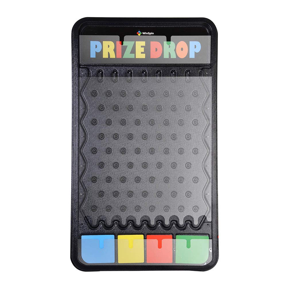 WinSpin 41''x25'' Customizable Prize Drop Board Game with LED Light 12 Pucks Carnival Party Trade Show