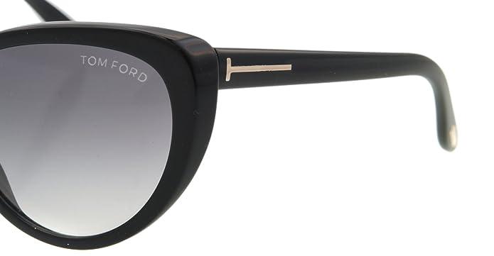 95e78819eb4 Amazon.com  Tom Ford Women s FT0253-01B Madison Black Sunglasses ...