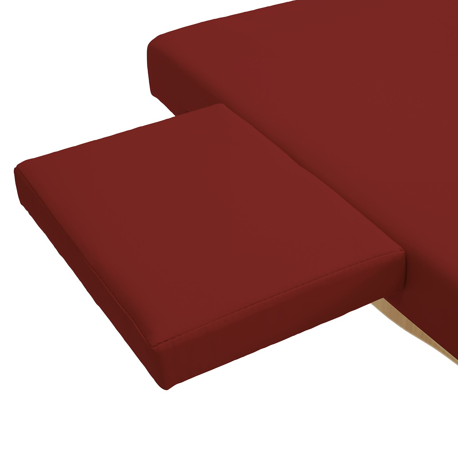 Saloniture Portable Physical Therapy Massage Table - Low to Ground Stretching Treatment Mat Platform - Burgundy by Saloniture (Image #4)