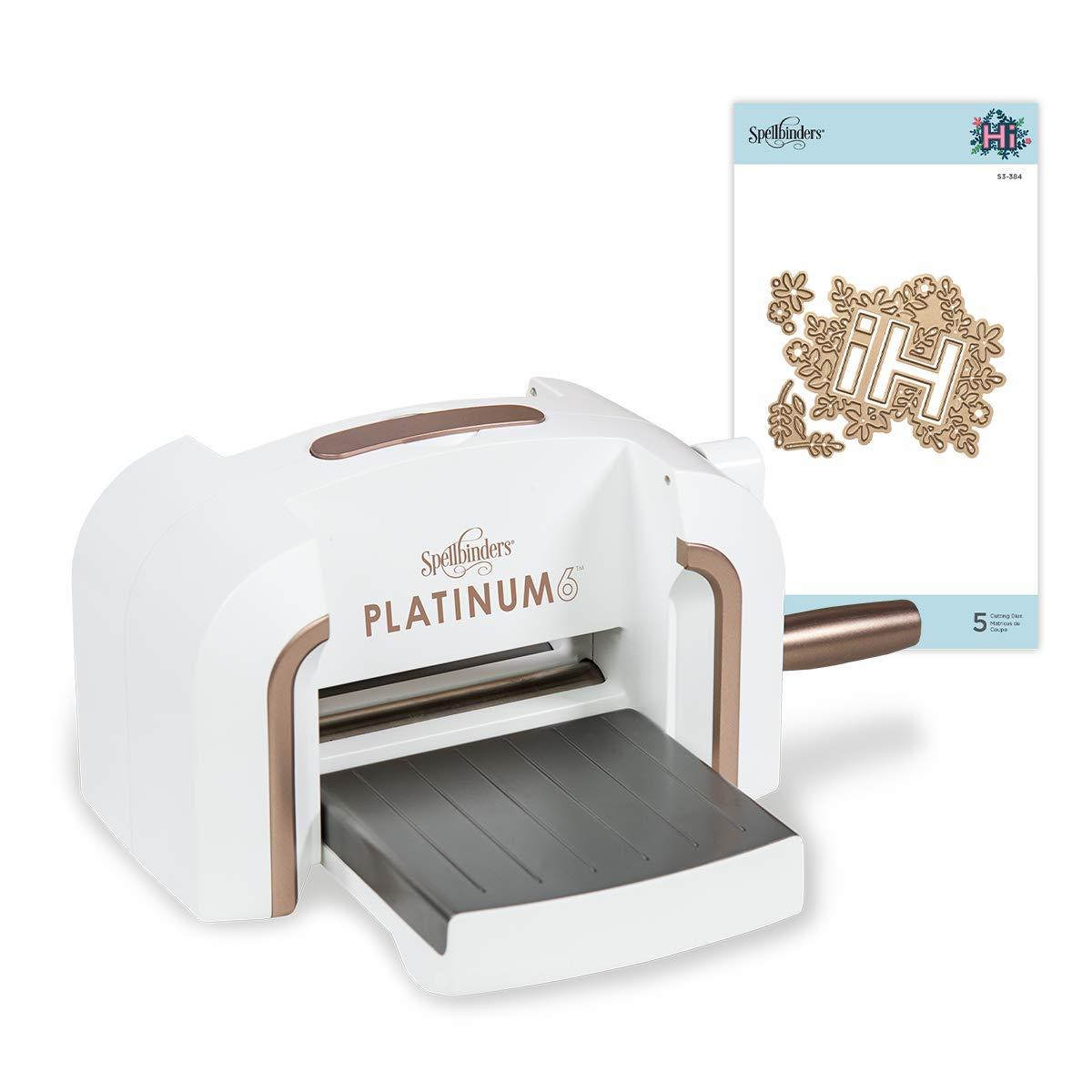 Spellbinders Platinum 6 Inch Platform Cutting Machine + Die, White