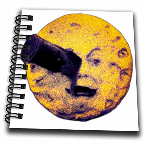 [Scenes from the Past Ephemera - A Trip to the Moon Happy Halloween Edition Vintage Sci Fi - Mini Notepad 4 x 4 inch] (Sci Fi Halloween)