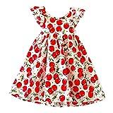 XUNYU Baby Girls Lemon Floral Sleeveless Sundress Infant Princess Summer Vest Dress