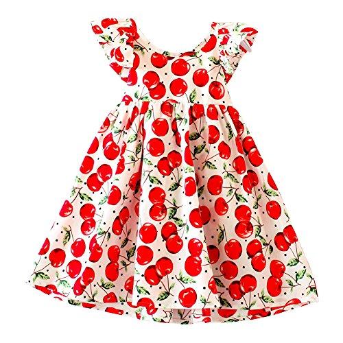 XUNYU Baby Girls Lemon Floral Sleeveless Sundress Infant Princess Summer Vest Dress by XUNYU