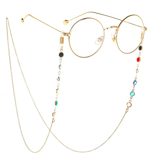 3c07a384efa HUA JU Eyeglass Chains for Women Girl Glasses Beaded Reading Glasses Cords  Sunglasses Holder Strap Lanyards