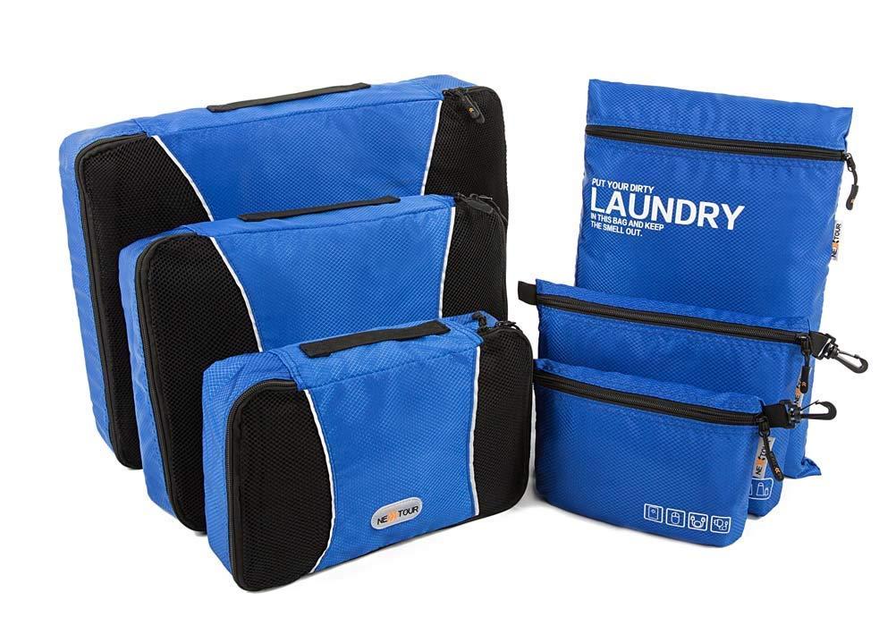 Embalaje Cubos Bags 6 Piezas Set Equipaje Organizador Viajes Bolsa De Lavander/ía Bolsa De Aseo Y Accesorios Electr/ónicos Bolsa para Equipaje De Viaje Nueva Versi/ón