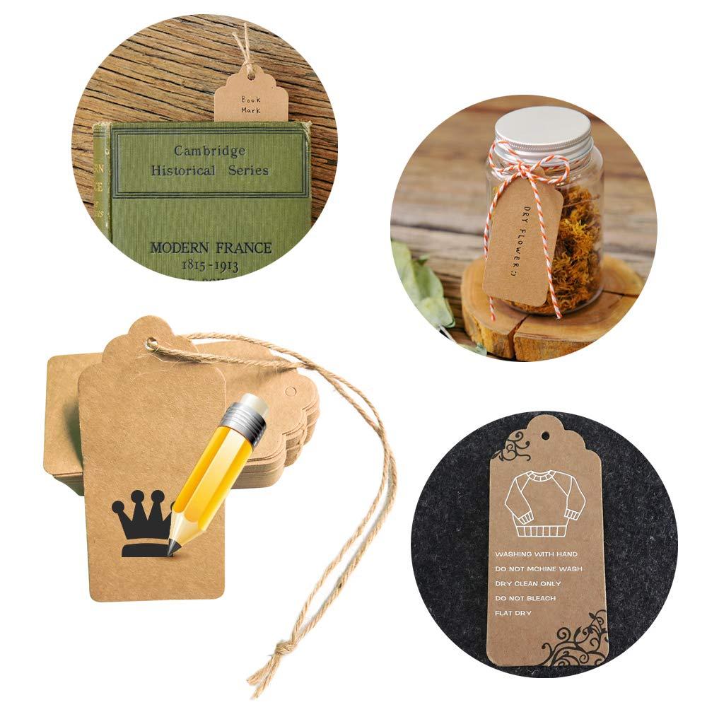 YLX Sac Cadeau Sac en Papier Kraft avec Poign/ée Recyclable pour Anniversaire Mariage No/ël et C/él/ébrations de F/ête 20+100