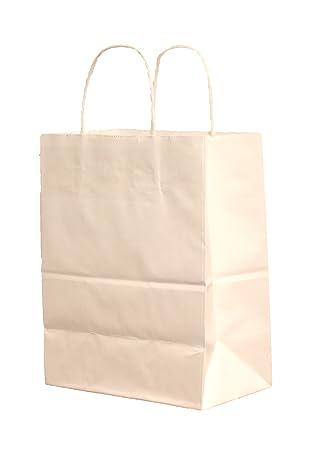 """Amazon.com: 10 Bolsas de papel con asas, 8"""" x4 – 3 ..."""