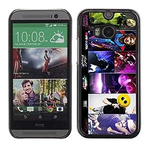 A-type Arte & diseño plástico duro Fundas Cover Cubre Hard Case Cover para All New HTC One (M8) ( Skrillex, Deadmau5, Daft y Aoki )