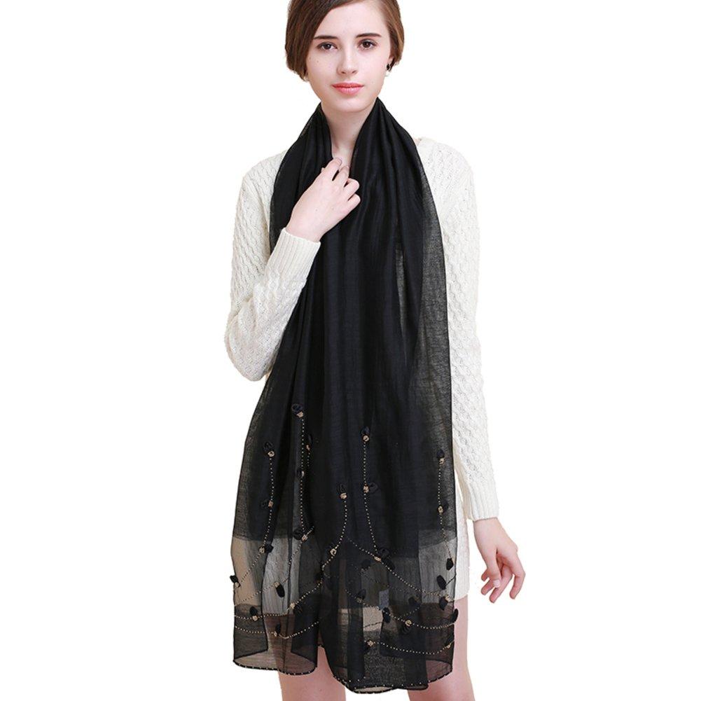 Fashion Scarves Silk shawl handmade scarf-B One Size