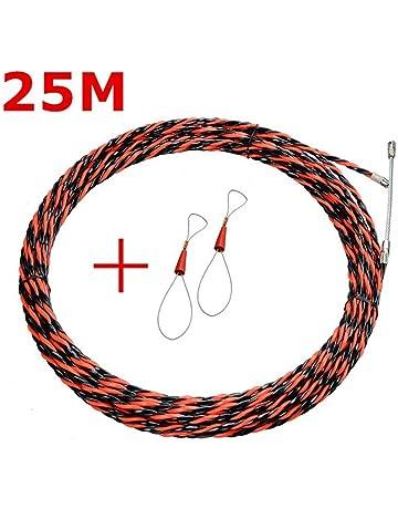 Festnight Cable de enhebrador de cable rojo y negro Dispositivo de roscado del tirador de arrastre