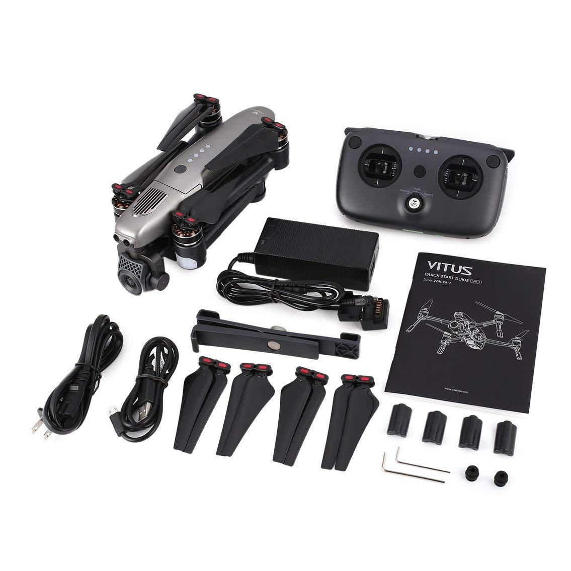 Contifan Walkera Vitus 320 Folding 4K Camera 5.8G FPV 3-Axis Gimbal GPS RC Drone Quadcopter