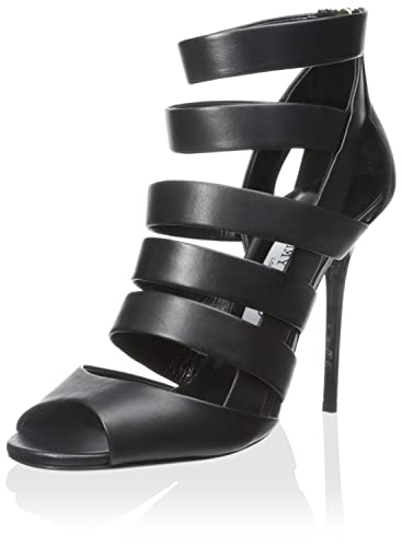 14a95e37093f Jimmy Choo Women's Damsen Heel Sandal, Black, 35.5 M EU/5.5 M US ...