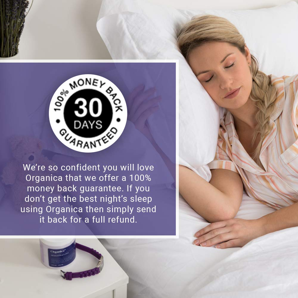 Organica Dream Lotion | Lavender Sleep Body Lotion Moisturizing Cream | Sleep Aid, Anxiety Relief, Vegan Skin Care, Natural Calm Night Stress by Organica