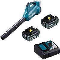 Makita BL1850b Ventilateur sans fil 2 x 18 V DUB362Z + 2 x batterie 5,0 Ah + chargeur DC18RC