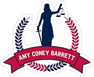 MONKEYSTYLE (3 PCs/Pack) Amy Coney Barrett 3x4 Inch Die-Cut Stickers Decals for Laptop Window Car Bumper Helmet Water Bottle