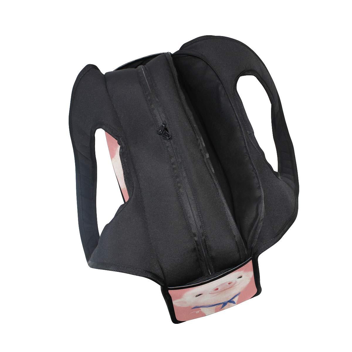 Cartoon Cute Pig Women Sports Gym Totes Bag Multi-Function Nylon Travel Shoulder Bag
