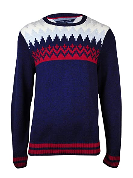 Tommy Hilfiger Men's Shoreland Fair Isle Crewneck Sweater (XL ...