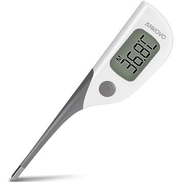 ANKOVO Digital Fast 8 secondes lecture thermomètre rectal avec embout  souple pour la mesure de la 2c80bd178c24