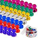 Winnprime Push Pin Magnets, Fridge Magnets, Assorted Color Magnets Perfect For Home, School, Classroom and Office Magnets, Magnets for Refrigerator Dry Erase Board and Whiteboard Magnets (60)