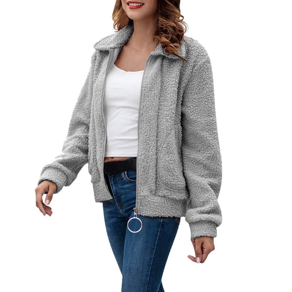 Seaintheson Women's Coats OUTERWEAR レディース B07HRDX1T6 X-Large|グレー グレー X-Large