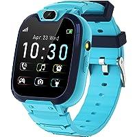 Smartwatch Niños - MP3 Música 14 Juegos Niños Reloj Inteligente llamada Chat de Voz SOS linterna Cámara Vídeo Digital…