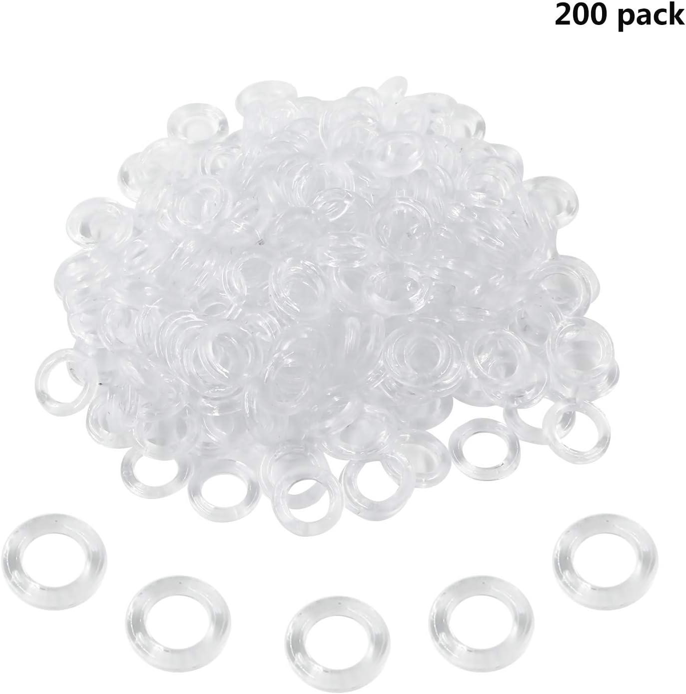 Quzhou, 200 anillas de plástico transparente para cortina ciega, 13 mm, 13 mm