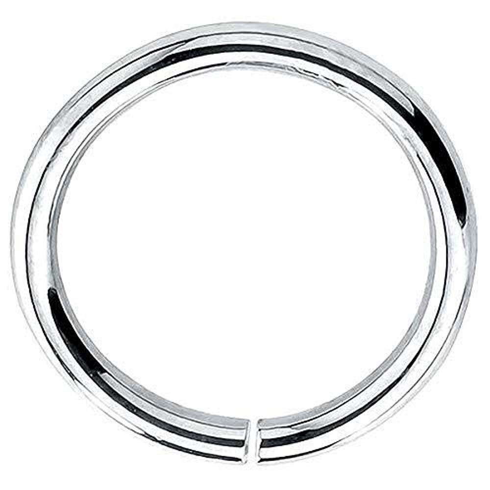 FreshTrends 14K Gold & Platinum Seamless Ring Hoop Piercing Jewelry 950 Platinum   16G   3/8'' (9.5mm) by FreshTrends