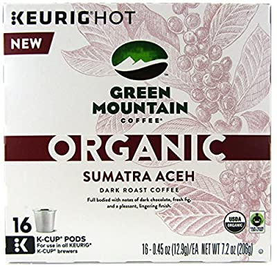Green Mountain Coffee Organic Sumatra Aceh Keurig K-Cups, 16 Count