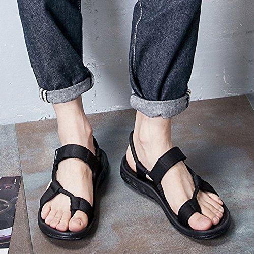 Sandals MAZHONG Men's Men's Beach Shoes Summer Outdoor Summer Men's Slippers Dual Trendy Shoes (Color : Black-EU37/UK4.5-5/CN37) Black-eu43/Uk9/Cn44 Zw8uDP7hv6