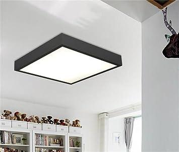 Elegant Deko Deckenleuchten Holzimitat Minimalistische LED Quadrat Wohnzimmer  Schlafzimmer Höhle Büro Decken Stilvolle Einfachheit (